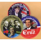 2016 Hopefuls Campaign Buttons