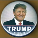 R27E - Trump President 2016 Campaign Button