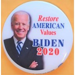 D2020  14C  - Restore American Values Biden  2020  Campaign Button