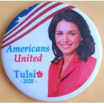 D2020  17B  - Americans United Tulsi 2020  Campaign Button