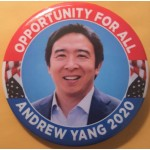 D2020  19B  - Oppertunity For All  Andrew Yang  2020  Campaign Button