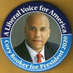 D2020  20A  - A Liberal Voice for America Cory Booker for President 2020 Campaign Button