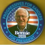 D2020  21A  - Progressives For Sanders Bernie 2020 For President  Campaign Button