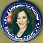 D2020  3A  - A Californian for President Kamala Harris 2020  Campaign Button