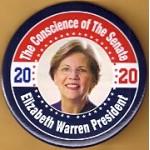 D2020  6A  - The Conscience of The Senate Elizabeth Warren President 2020  Campaign Button