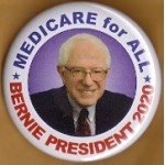 Sanders  1A  - Medicare for All Bernie President 2020  Campaign Button