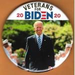 Biden  9A  -  Veterans For Biden  2020  Campaign Button