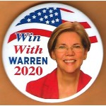D2020 24L - Win With Warren 2020  Campaign Button