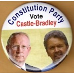 3rd Party 11Q - Constitution Party Vote Castle - Bradley Campaign Button