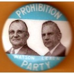3rd Party 17D - Prohibition Party Watson Learn Campaign Button