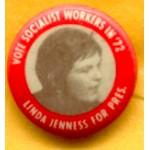 3rd Party 25C - Vote Socialist Workers In '72 Linda Jenness For Pres Campaign Button
