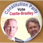 3rd Party 27L - Constitution Party Vote Castle - Bradley Campaign Button