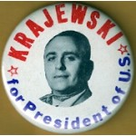 3rd Party 2K - Krajewski for President of U.S. Campaign Button