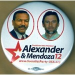 3rd Party 4M - President & Vice President Alexander & Mendoza 12 Campaign Button
