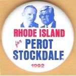 3rd Party 30J - Rhode Island for Perot Stockdale 1992 Campaign Button