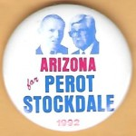 3rd Party 30L - Arizona for Perot Stockdale 1992 Campaign Button