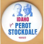 3rd Party 32J - Idaho for  Perot Stockdale 1992 Campaign Button