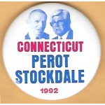 3rd Party 35G - Connecticut for  Perot Stockdale 1992 Campaign Button