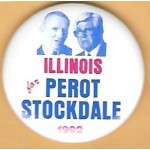 3rd Party 35K - Illinois for  Perot Stockdale 1992 Campaign Button