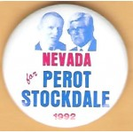 3rd Party 30K - Nevada for Perot Stockdale 1992 Campaign Button