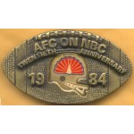 AD 2A  - AFC On NBC Twentieth Anniversary 1984 Belt Buckle