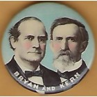 William Jennings Bryan  Campaign Buttons (6)