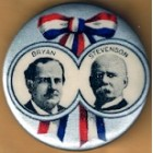 William Jennings Bryan  Campaign Buttons (5)