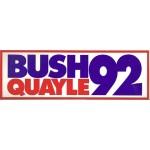 Bush 44D - Bush Quayle 92 (Bumper Sticker)