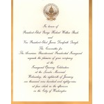 Bush 7K - Inauguration Of President And Vice President Bush Quayle 1989 Paper Invitation