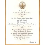 Bush 7N - Inauguration Of President And Vice President Bush Quayle 1989 Paper Invitation Inaugural Ball