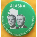 Carter 11J - Alaska (Carter Mondale) 1980 Democratic National Convention Campaign Button