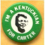 Carter 21D - I'm A Kentuckian For Carter Campaign Button
