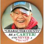 """Carter 22G - """"Character Counts"""" Be A Carter ! And Never A Trump Campaign Button"""