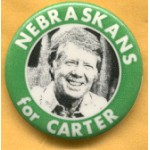 Carter 36D - Nebraskans for Carter Campaign Button