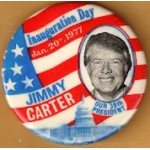 Carter 37H - Inauguration Day Jan. 20th, 1977 Jimmy Carter Our 39th President Campaign Button
