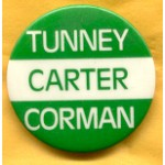 Carter 4C - Tunney Carter Corman Campaign Button