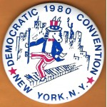Carter 11G - Democratic 1980 Convention New York , N.Y.  Campaign Button