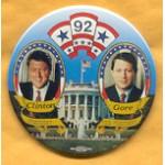Clinton 36A - Clinton President Gore Vice President 1992 Campaign Button