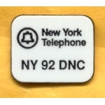 Clinton 115A - New York Telephone NY 92 DNC  Lapel Pin