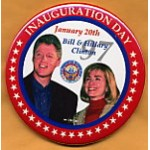 Clinton 1D - Inauguration Day January 20th 97 Bill & Hillary Clinton Campaign Button