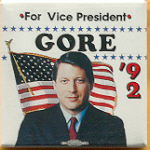 Clinton 39A - For Vice President Gore '92 Campaign Button