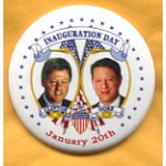 Clinton 5E - Inauguration Day Clinton Gore 1997 January 20th Campaign Button