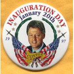 Clinton 64A - Inauguration Day January 20th 1997 Clinton Campaign Button