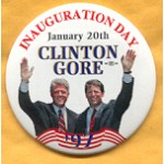 Clinton 65A  - Inauguration Day January 20th Clinton Gore '97 Campaign Button