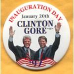 Clinton 65A  - Inauguration Day January 20th Clinton Gore '97 Campaign Button