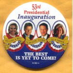 Clinton 66A  - Hillary & Bill  Clinton Gore Al & Tipper Campaign Button
