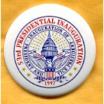 Clinton 71A  - Inauguration of President and Vice President Clinton Gore 1997 Campaign Button