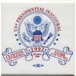 Clinton 72A  - 53rd Presidential Inauguration Clinton 42nd President Gore 45th Vice Pres Campaign Button