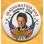 Clinton 73A  - Inauguration Day January 20th 1997 Clinton 42nd U.S. Pres Campaign Button