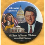 Clinton 84A - Thomas Jefferson William Jefferson Clinton Campaign Button